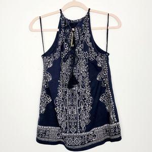 Lucky Brand Boho Tassel Tie Camisole